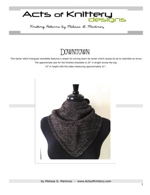 Downtown Shawlette Knitting Pattern