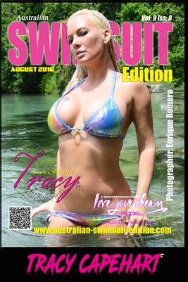 AUSTRALIAN SWIMSUIT EDITION MAGAZINE COVER POSTER - Cover Model Tracy Capehart - August 2016