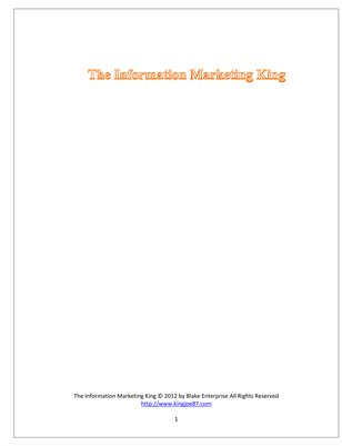 The Information King