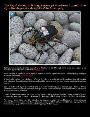 The Koyal Group Info Mag Review på Forskerne i stand til at styre flyvningen af 'cyborg biller' for første gang
