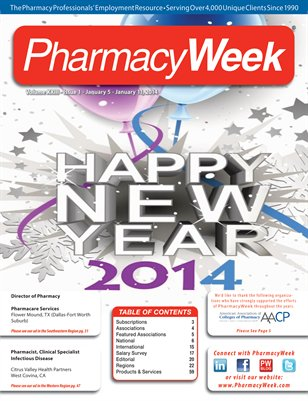 Pharmacy Week, Volume XXIII - Issue 1 - January 5 - January 11, 2014