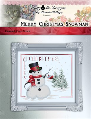 Merry Christmas Snowman Cross Stitch Pattern