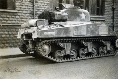 American Tank in France in World War 2