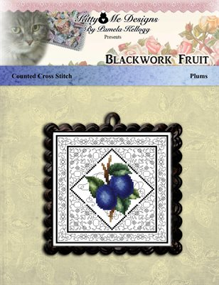 Blackwork Fruit Plums
