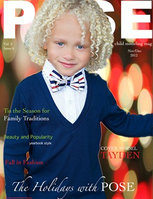 THE HOLIDAYS WITH POSE child modeling mag 2012