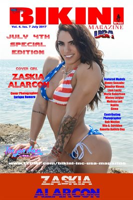 BIKINI INC USA MAGAZINE COVER POSTER - Cover Girl Zaskia Alarcon - July 4th Special Edition - July 2017