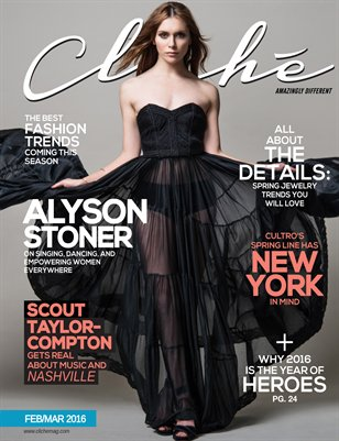 Cliché Magazine - Feb/Mar 2016 (Alyson Stoner Cover)