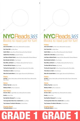 NYC Reads 365 Reading List doorhanger - Grade 1