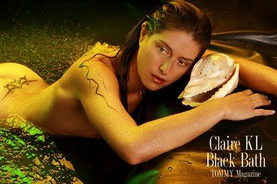 Claire KL - Black Bath - Poster