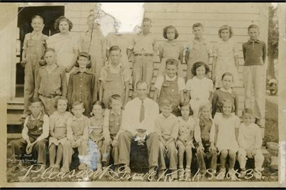 1938 PLEASANT GROVE SCHOOL, GRADES 1-8, MARSHALL COUNTY, KENTUCKY