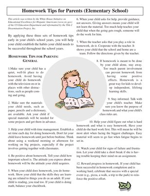 Homework Help tips for Parent