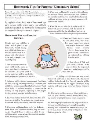 Parent homework help tips