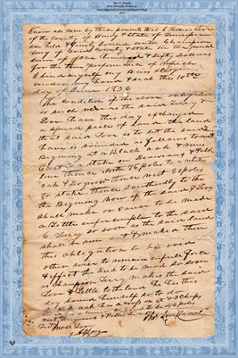 1836 Deed, Love to Terry, Henry County, Tennessee