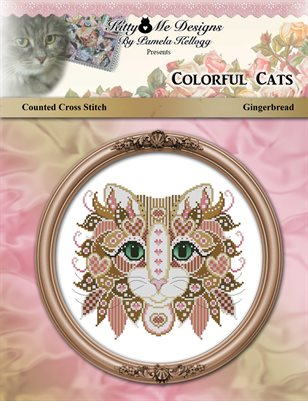 Colorful Cats Gingerbread Counted Cross Stitch Pattern