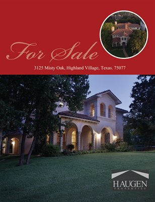 Haugen Properties - 3125 Misty Oak, Highland Village, Texas. 75077
