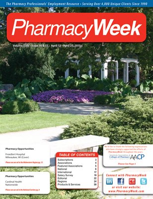Pharmacy Week, Volume XXIV - Issue 14 & 15 - April 12 - April 25, 2015
