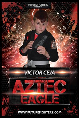 Victor Ceja Red Rain Poster