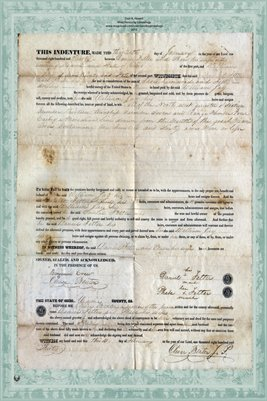 1830 Deed between Daniel Fetter & William Jay, Miami County, Ohio