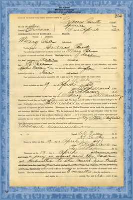 1924 State of Kentucky vs. Mary Cole, Graves County, Kentucky