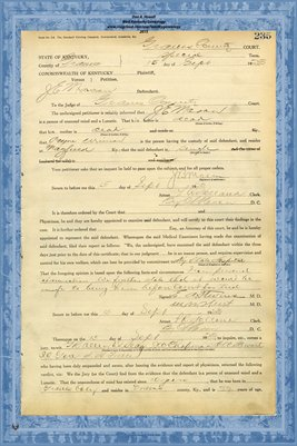 1923 State of Kentucky vs. J.E. Mason, Graves County, Kentucky