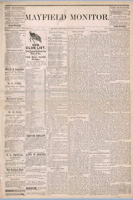 (Pages 1-2) Mayfield Monitor, APRIL 12,1879