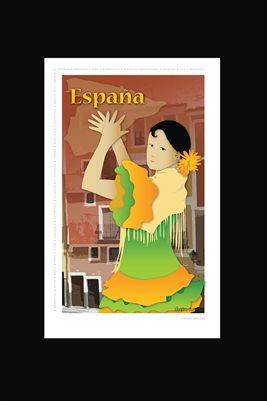 España Poster 12 x18