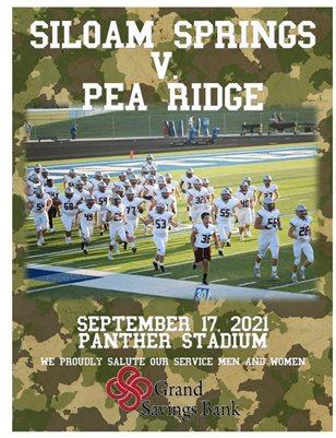 Siloam Panthers v. Pea Ridge Varsity Football Program 9/17/21