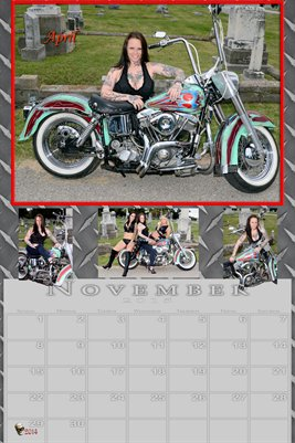 April Miss November 2015 poster