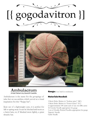 Ambulacrum - A Hat Pattern