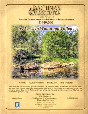 35 Acres in Wahatoya Valley