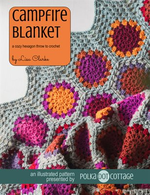Campfire Blanket Illustrated Crochet Pattern
