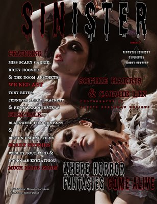SINISTER Magazine Issue #5- Sophie & Carrie Cover