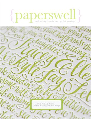 paperswell: modern design ideas for paper goods & weddings