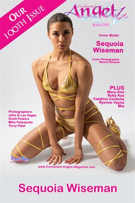 ENCHANTED ANGELZ MAGAZINE COVER POSTER -100th Issue - Cover Model Sequoia Wiseman