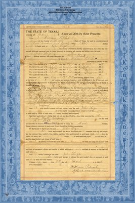 1915, Transfer of Vendor's Lien Notes, William Petrich to John Lenze, Harris Co.,Texas