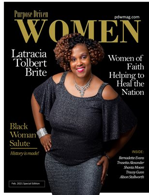 Purpose Driven Women Magazine featuring Latracia Tolbert Brite