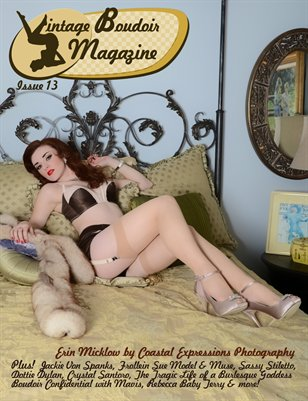 Vintage Boudoir Magazine Issue 13 with Erin Micklow cover