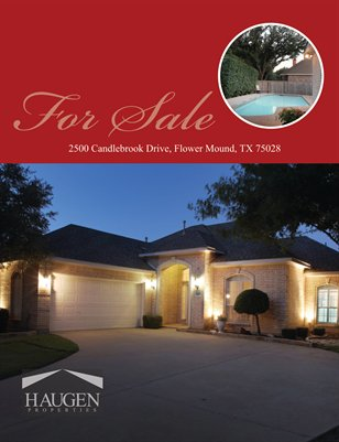 Haugen Properties -  2500 Candlebrook Drive, Flower Mound, Texas 75028