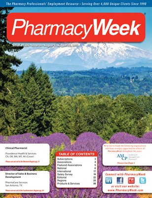 Pharmacy Week, Volume XXIV - Issue 29 - August 9 - August 22, 2015