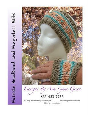 Fair Isle Headband and Fingerless Mitts