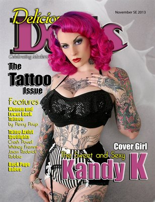 Delicious Dolls November Tattoo issue #2 - Kandy K Cover
