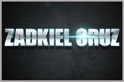 Zadkiel Cruz Name Design Poster