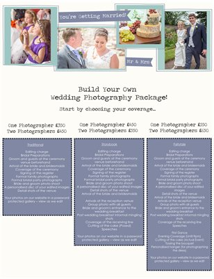 Build Your Own Wedding Photography Package!
