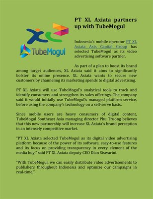 PT XL Axiata partners up with TubeMogul