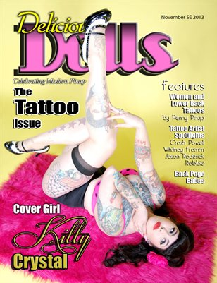 Delicious Dolls Magazine November Tattoo Issue - Kitty Crystal Cover