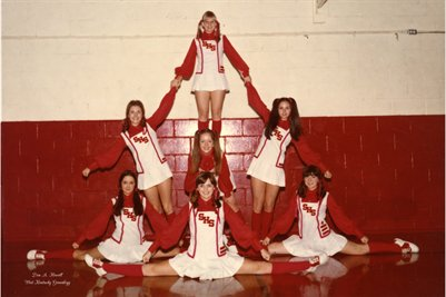 March 7, 1974 Sedalia High School Cheerleaders, Sedalia, Graves County, Kentucky