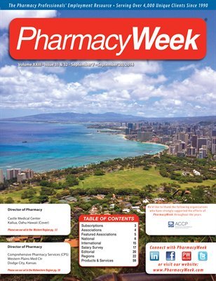 Pharmacy Week, Volume XXIII - Issue 31 & 32 - September 7 - September 20, 2014