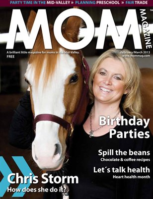 MOM Magazine, Feb/Mar 2013 Birthday Parties in the Mid-Valley