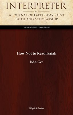 How Not to Read Isaiah