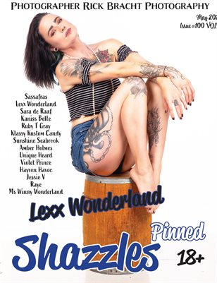 Shazzles Pinned Issue #100 VOL 3. Cover Model Hellcat Suzie.